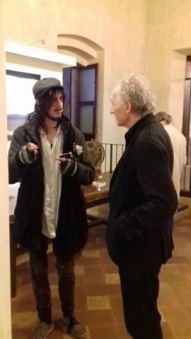 Matteo Casali (Caramello) con l'artista Karel Stopp.