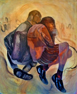 Confessioni, acrilico e olio su tela 120x100cm, 2020