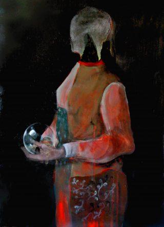 Demone profetico, acrilico e olio su tela 90x65cm, 2020