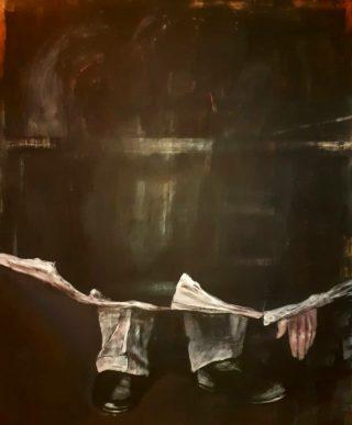 Ritratto in nessun luogo, olio su tela 130x110cm, 2020