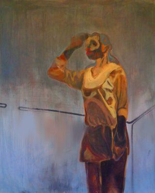 Orizzonte tra quattro mura, olio su tela 120x100cm, 2020