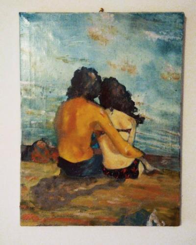 L'abbraccio, olio su tela 40x30cm, 2019
